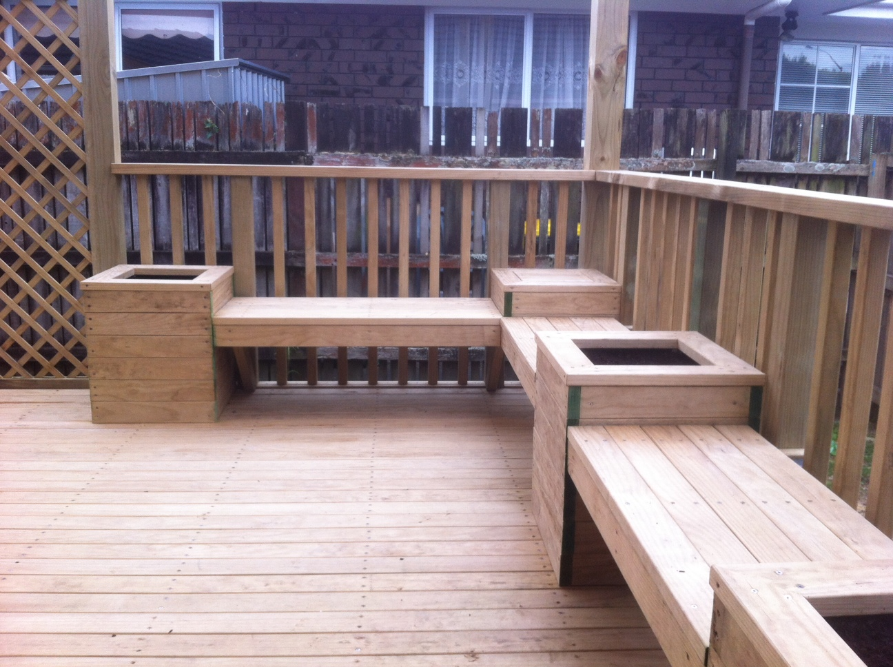 Deck Seating And Planters